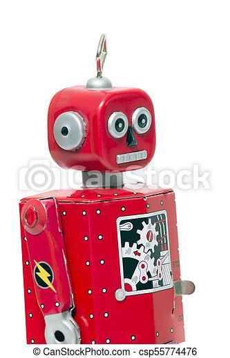 jouet fer-blanc, robot - csp55774476