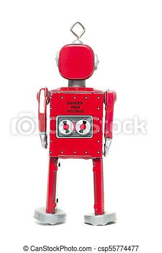 jouet fer-blanc, robot - csp55774477