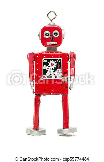 jouet fer-blanc, robot - csp55774484