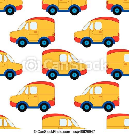 Jouet Illustration Modele Cars Seamless Vecteur Voiture