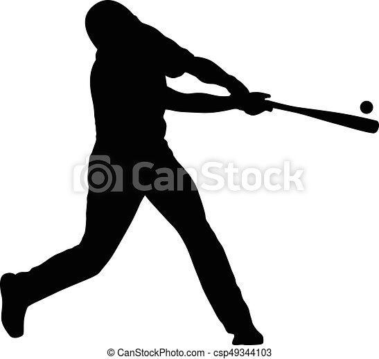 joueur, base-ball - csp49344103