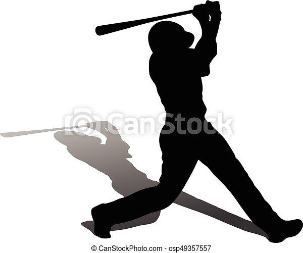 joueur, base-ball - csp49357557