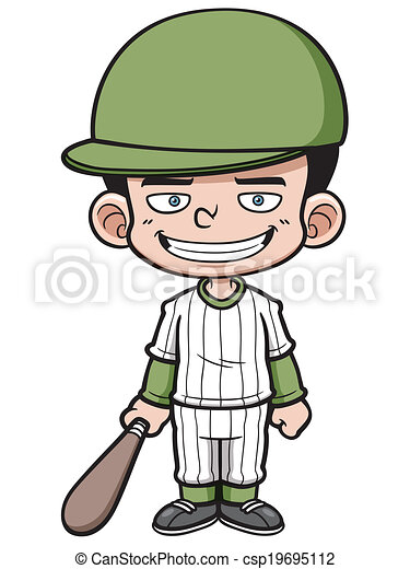joueur, base-ball - csp19695112
