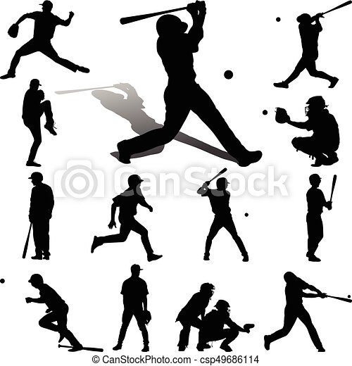 joueur, base-ball - csp49686114