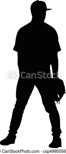 joueur, base-ball - csp49950562