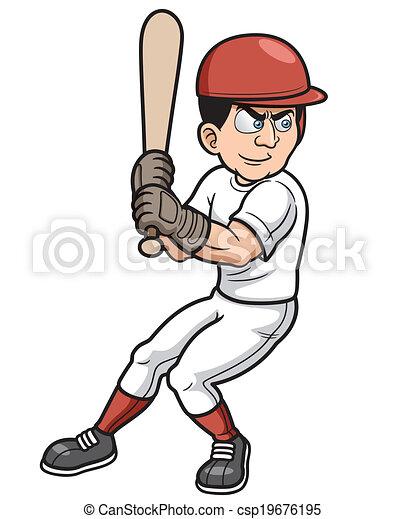 joueur, base-ball - csp19676195
