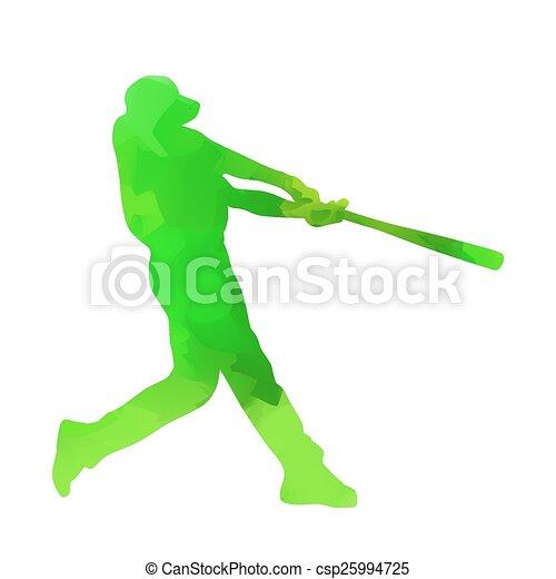 joueur, base-ball - csp25994725