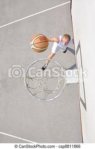 joueur, basket-ball, tir - csp8811866