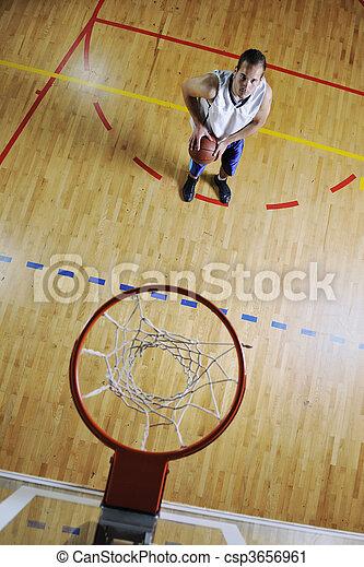 joueur, basket-ball, tir - csp3656961