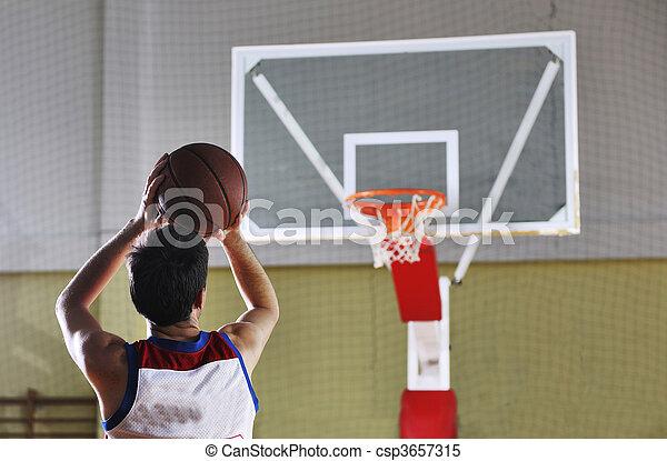 joueur, basket-ball, tir - csp3657315
