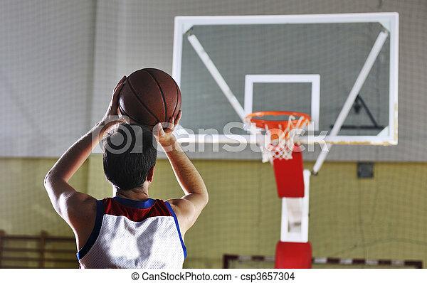 joueur, basket-ball, tir - csp3657304