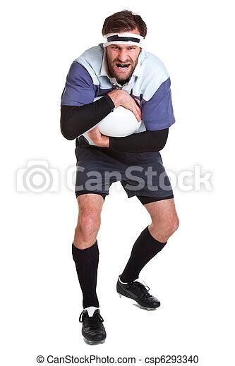joueur, blanc, coupure, rugby, dehors - csp6293340