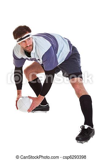 joueur, blanc, coupure, rugby, dehors - csp6293398