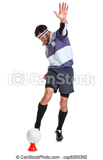 joueur, blanc, coupure, rugby, dehors - csp6293392