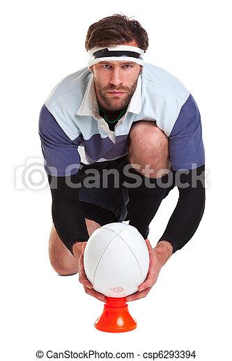 joueur, blanc, coupure, rugby, dehors - csp6293394
