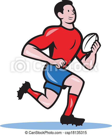 Joueur courant balle rugby dessin anim balle rugby illustration dessin anim joueur - Dessin de joueur de rugby ...