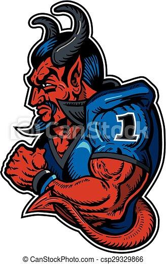 joueur, diable, football - csp29329866