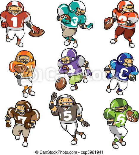 Joueur football dessin anim ic ne - Dessin football americain ...
