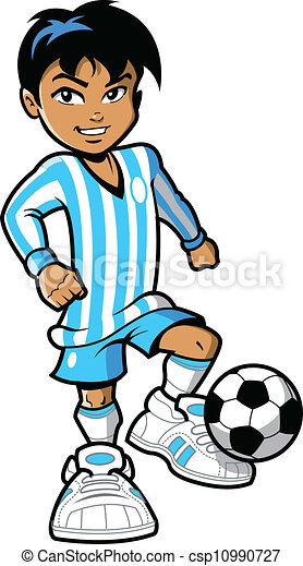 joueur, football - csp10990727