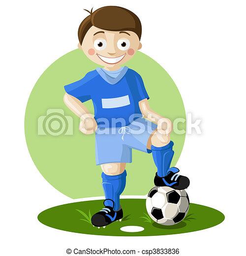 joueur, football - csp3833836