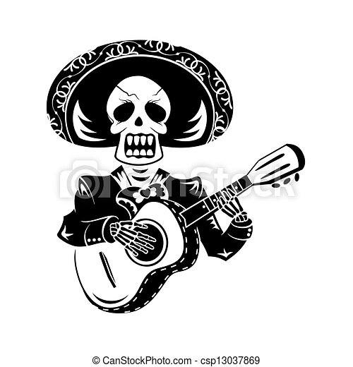 joueur guitare, mariachi - csp13037869