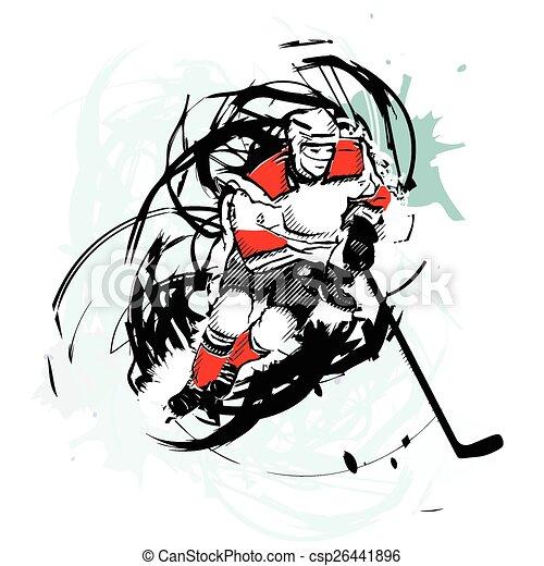 Joueur hockey glace vecteurs eps rechercher des clip art des illustrations des dessins et - Dessin hockey sur glace ...