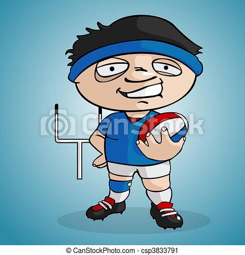Joueur rugby joueur dessiner rugby style dessin anim - Dessin de joueur de rugby ...