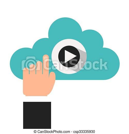 joueur, vidéo, conception - csp33335930