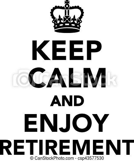 jouir de, retraite, calme, garder - csp43577530