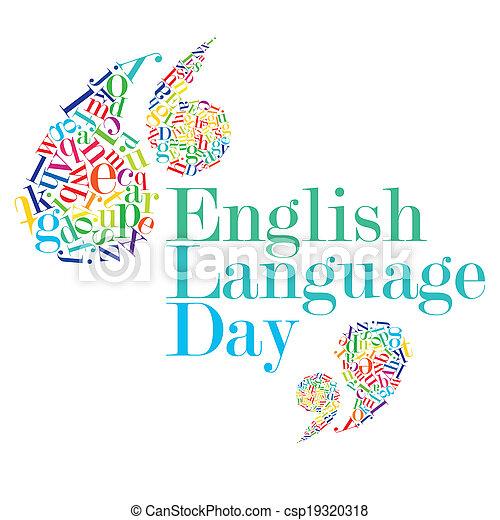 jour, langue, anglaise - csp19320318