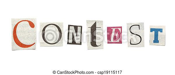 journal, concours, coupure, lettres - csp19115117