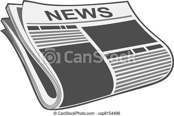 journal, vecteur - csp8154496
