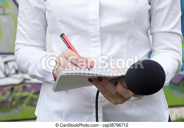 journalist., ニュース, conference. - csp38796712