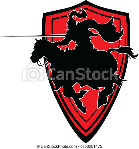 Jousting Knight vector silhouette M - csp8261475