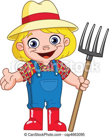 jovem, agricultor - csp4663095
