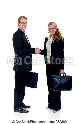 jovem, businesspeople - csp1282889