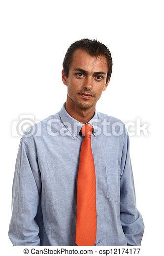 jovem, homem negócio - csp12174177