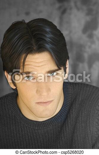 jovem, retrato, atraente, homem - csp5268020