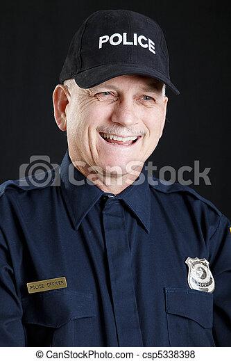 Jovial Policeman - csp5338398