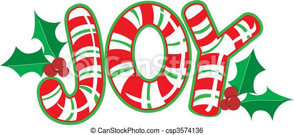 Joy Candy Cane - csp3574136