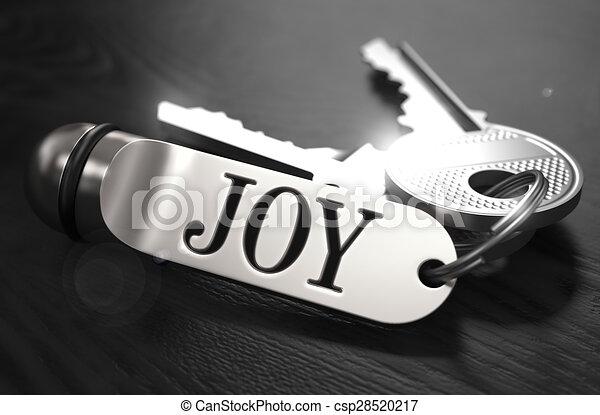 Joy Concept. Keys with Keyring. - csp28520217
