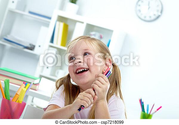 joyeux, enfant - csp7218099