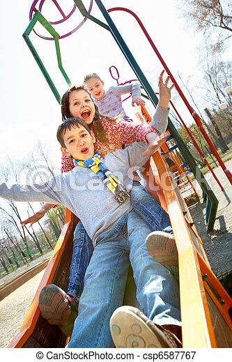 joyeux, enfants - csp6587767