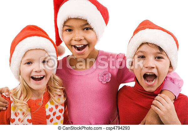 joyeux, enfants - csp4794293