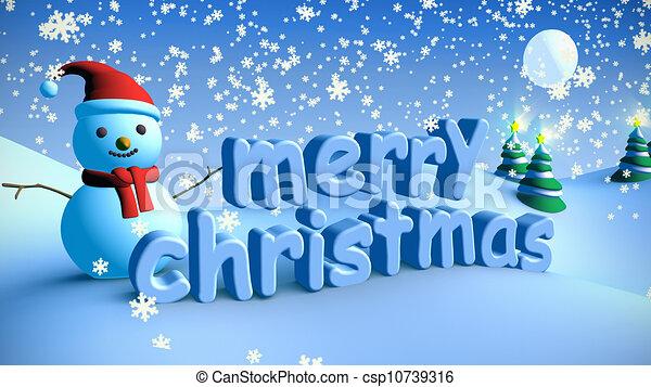 Joyeux Noël Paysage 6