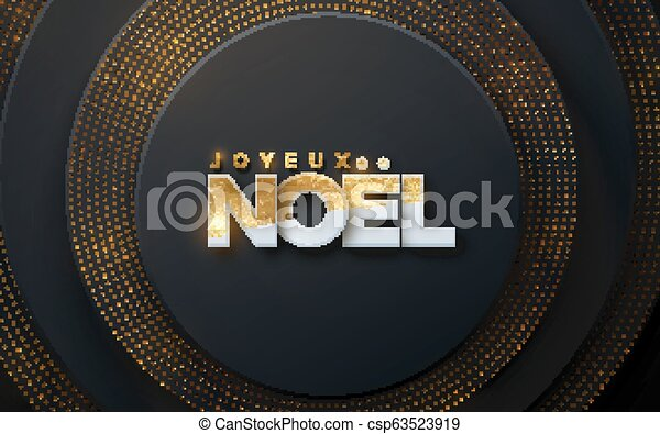 Joyeux noel. - csp63523919