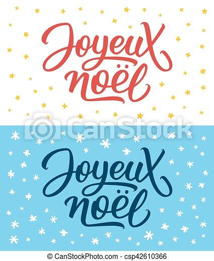 Joyeux Noel Clipart.Joyeux Noel Lettering Merry Christmas On French