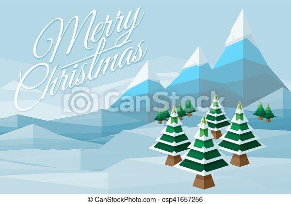 joyeux, scène hiver, fond, noël - csp41657256