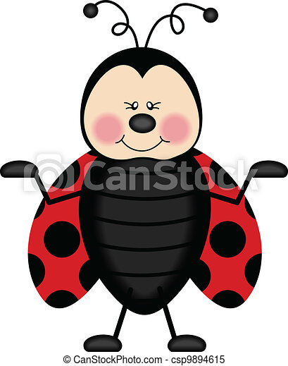 joyful ladybug scalable vectorial image representing a joyful rh canstockphoto com ladybug clipart images ladybug clip art black and white