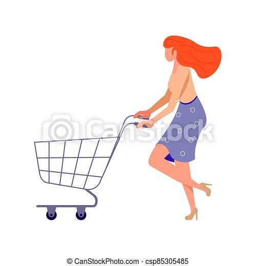 Joyful shopping People - csp85305485